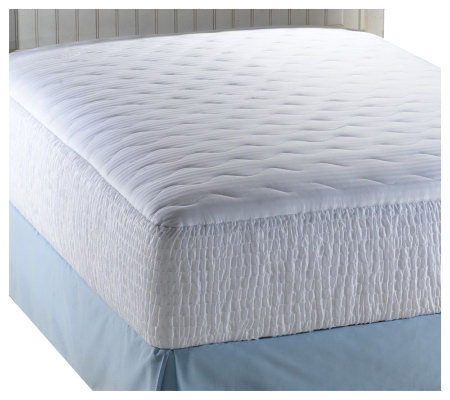 Croscill 300TC Sateen Stripe Queen Mattress Pad