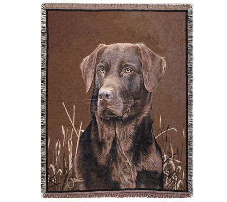 Chocolate Lab Throw by Simply Home