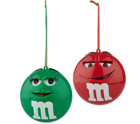 Set Of 2 M M 39 S Sound Activated Animatedmusical Ornaments