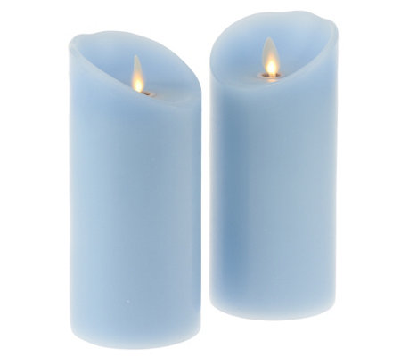 "Luminara S/2 3x6"" Holiday Flameless Candles with Timers"