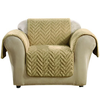 Sure Fit Sheared Faux Fur Chair Furniture Cover - H204340