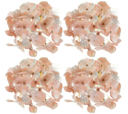 Set of 4 Glistening Hydrangea Clips by Valerie