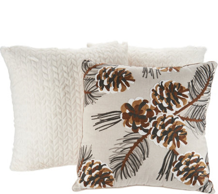Deck the House by Vivere Home (3) Seasonal Decorative Throw Pillows