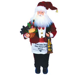 "18"" Wine Steward Santa by Santa's Workshop - H281340"