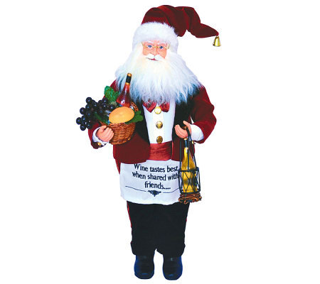 "18"" Wine Steward Santa by Santa's Workshop"