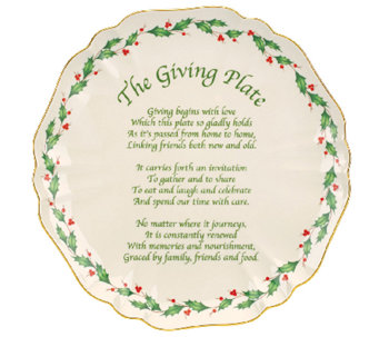 "Lenox Holiday 11"" Carved Giving Plate - H284540"