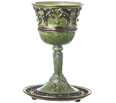 Copa Judaica Ravenna Kiddush Cup and Tray