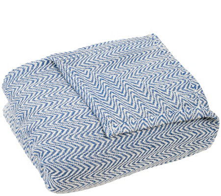 Lavish Home Chevron Twin Blanket