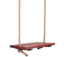 Plow & Hearth Rope Tree Swing With Wooden Seat - H291440