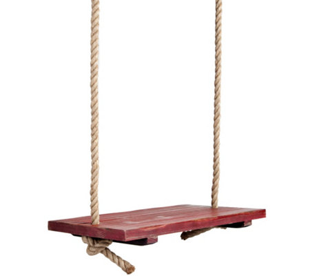 Plow & Hearth Rope Tree Swing With Wooden Seat