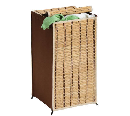 Honey-Can-Do Tall Wicker Hamper