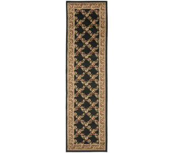 "Lyndhurst Open Floral Power Loomed 2'3"" x 8' Runner - H356840"