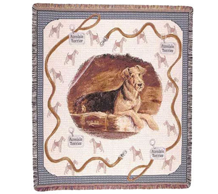 Airedale Terrier Throw