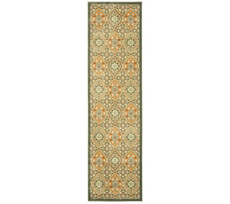 "Treasures Medallions Persian Power-Loomed  2'2""x 8' Runner"