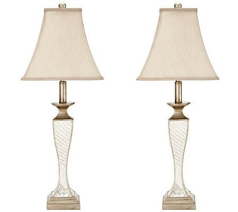 Safavieh Kailey Glass Lattice Lamps - H362740