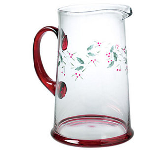Pfaltzgraff Winterberry Glass Water Pitcher, 2.5 qt - H363340