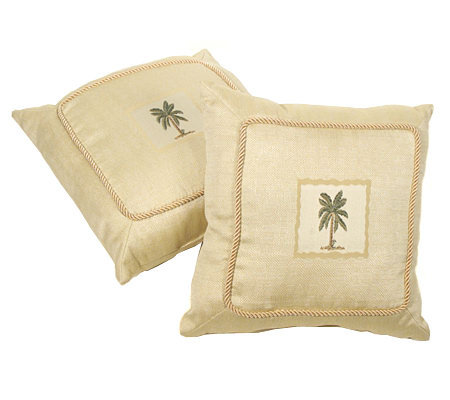 Qvc Decorative Pillows : Palm Springs Set of 2 Decorative Pillows ? QVC.com