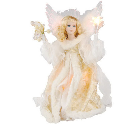 "Indoor 18"" Animated Fiber Optic Praying Angel"