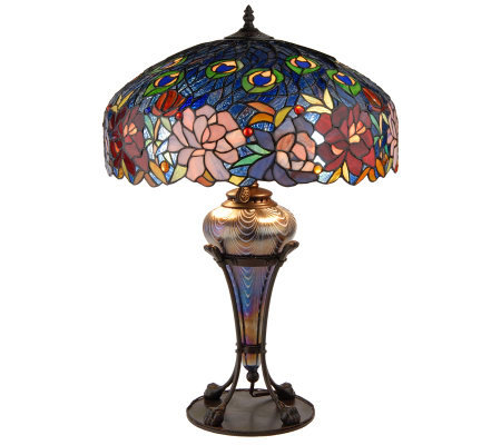 J J Peng Stained Glass Limited Edition 26 Quot Table Lamp W