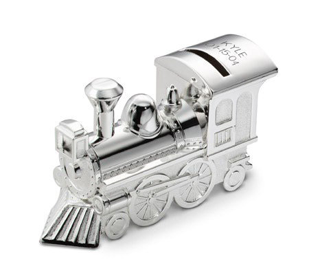 Things Remembered Personalized Train Bank