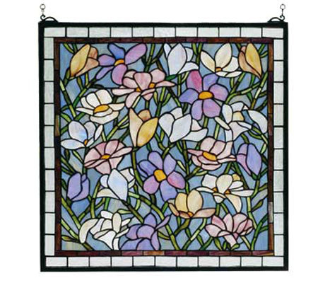 Tiffany Style Magnolia Window Panel