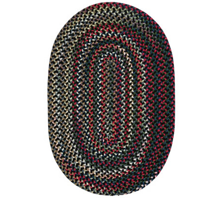 Chestnut Knoll 8' x 11' Oval Braided Rug by Colonial Mills