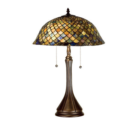 Tiffany-Style Fish Scale Table Lamp
