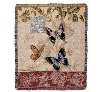 Butterfly Floral Throw by Simply Home - H188041
