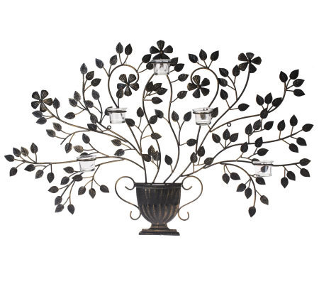 Bombay Tree Wall Art with Candle Sconces
