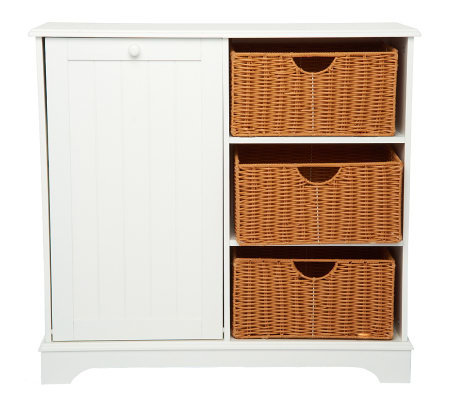 Home Reflections Storage Table With Tilt Out Cabinet