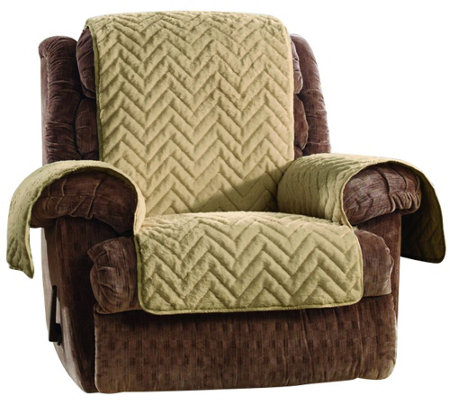 Sure Fit Sheared Faux Fur Recliner Furniture Cover