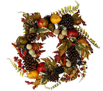"24"" Fruit and Berry Wreath with Pinecones by Valerie - H206141"