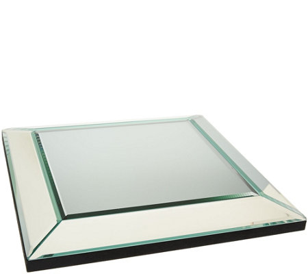"12"" Square Beveled Mirror Centerpiece by Valerie"