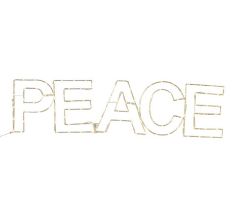 "Kringle Express Illuminated Holiday Message ""Peace"""