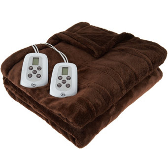 Serta Perfect Sleeper KG Plush Heated Blanket - H209241