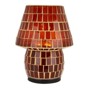 8 Illuminated Indoor/Outdoor Colored Tile Mosaic Lamp by Valerie
