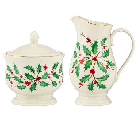 Lenox Holiday Sugar & Creamer