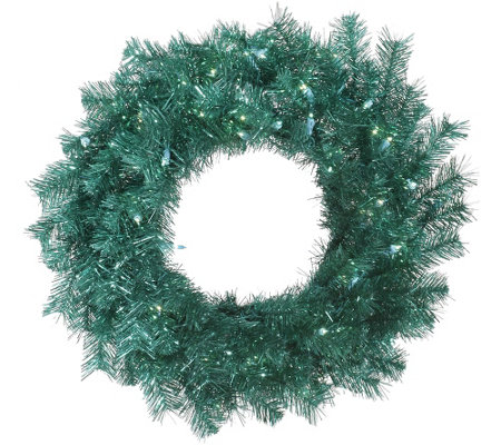 "24"" Lit Tinsel Wreath by Vickerman"