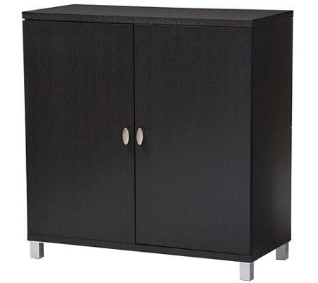 Baxton Studio Marcy Wood Entryway  Storage Cabinet
