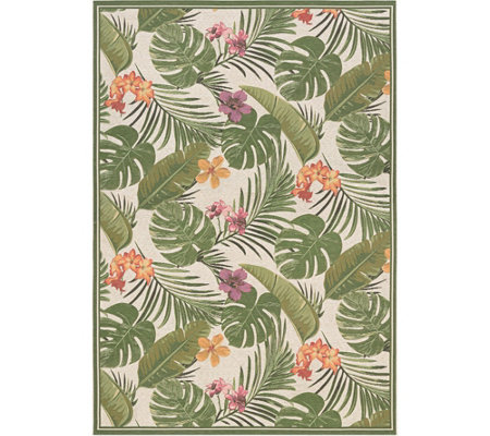 "Couristan Dolce Flowering Fern 5'3"" x 7'6"" Rug"