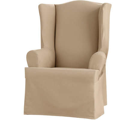 Sure Fit Heavyweight Cotton Duck Wing ChairSlip Cover
