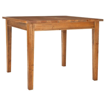 Construction Casual Dining Table Natural Finish