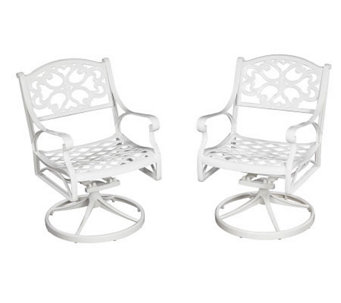 Home Styles Biscayne Outdoor Swivel Chair - White Finish - H358341