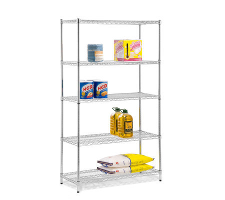Honey-Can-Do Five-Tier Chrome Storage Shelves -800 lbs