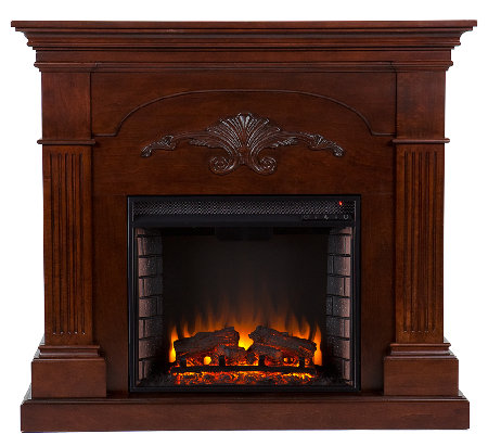 Grand Bruton Mahogany Finish Electric Fireplace