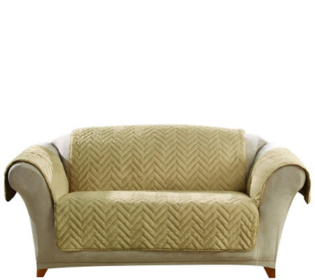 Sure Fit Sheared Faux Fur Loveseat Furniture Cover