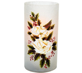 "Candle Impressions 7"" Hand Painted Holiday Luminary Vase - H206642"