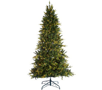 """As Is"" Bethlehem Lights 7.5' Noble Spruce w/ Multi-Functions - H210842"