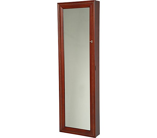 Silver Safekeeper Lighted Wall Armoire, Gold Silver Safekeeper Mirrored Jewelry Cabinet By Lori Greiner