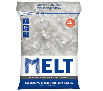 Snow Joe MELT 25-lb Bag of Calcium Chloride Crystals - H290542